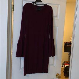 Cynthia Rowley size L dark purple sweater dress